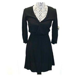3/4 sleeve V neck dress
